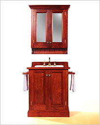 Colonial 750 Timber Bathroom Vanity with Matching Shaving Cabinet and Towel Rails. Click to view product details.