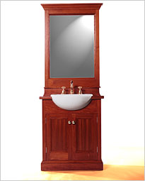 Colonial 750 Forward Mount Timber Bathroom Vanity with Deluxe Mirror. Click to view product details.
